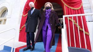 Ex-president Bill Clinton med fru Hillary Clinton.