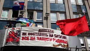 Omrostning i ukraina uppskjuten