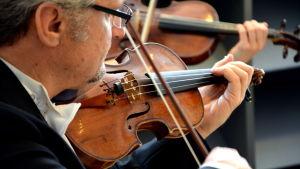 Kerim Gribajcevic spelade violin på skattebyrån i Åbo.
