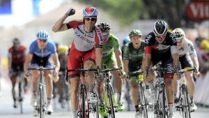 Alexander Kristoff vinnder den 15:e etappen