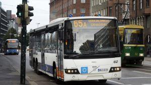 Buss 65A i Helsingfors.