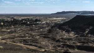 Staden el-Bawity i oasen Bahariya, i Västra öknen i Egypten.