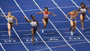 Finalen på 100 meter i Berlin.