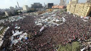Bild av massdemonstrationerna på Befrielsetorget i Kairo 2011