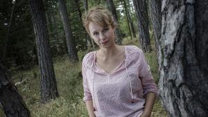 Sara Stridsberg och skogen, 2014.