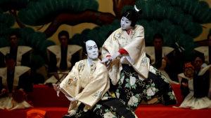 Japansk kabukisällskap håller föreställning i Spanien