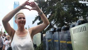 Kolesnikova är den enda av de tre kvinnor som ledde Tikhanovskajas valkampanj som inte har flytt utomlands.
