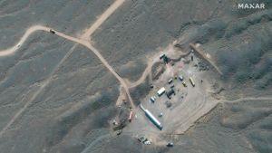 En satellitbild på anläggningen i Natanz, tagen i oktober 2020.