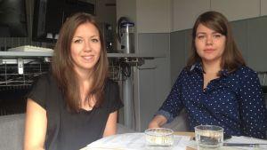 Rebecca Smeds och Micaela Heselius