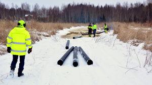Isvallning för transport av muddermassor