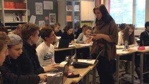 Gymnasiet Grankulla samskola, lärare Petra Bredenberg