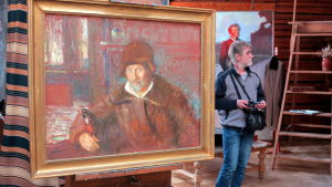 Målning av Jurij Repin, son till Ilja Repin.