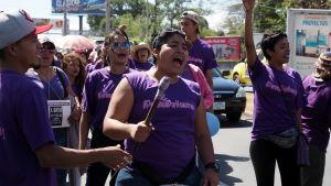 I Nicaragua har abort varit förbjudet sedan 2006. Aktivister vill se förbudet hävas.