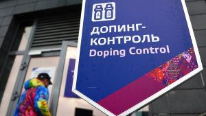 En station där idrottare testas för doping under de olympiska spelen i Sochi.