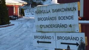 Kårkulla samkommuns boende på Brogränd i Ekenäs.