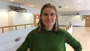 Yvonne Gunell i grön tröja.