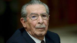 Guatemalas förre diktator Efraín Ríos Montt.