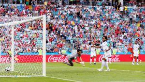 Panama släpper in ett mål mot Belgien
