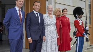 Emmanuel Macron på besök i Danmark