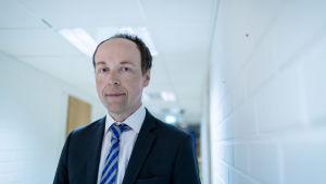Poliitikko ja perussuomalaisten puheenjohtaja Jussi Halla-aho, puoluetoimisto, Helsinki, 17.1.2019.