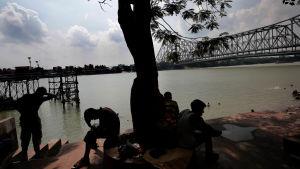 Bad vid Ganges, Indien  26.6.2019