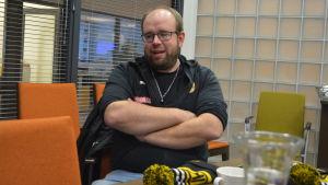 Magnus Slotte, tränare för IK Myran.