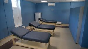 Massagebord på träningsanläggningen.
