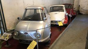 Dvärgbilar i Esbo bilmuseum