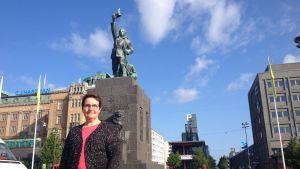 Eva Reinikainen, ordförande för Vasa-Korsholm guider.