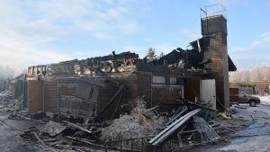 De tekniska utrymmena i husbolaget förstördes.