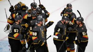 Vegas firar segern mot Winnipeg.