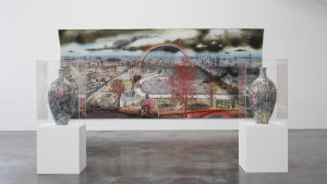 Verk ur brittiska konstnären Grayson Perrys utställning på Kiasma