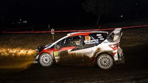 Kalle Rovanperä kör i Monte Carlo-rallyt.