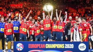 Spanien jublar över EM-titeln.