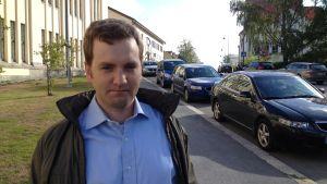Gustav Nygård är regionplanerare på utvecklingsbolaget Concordia