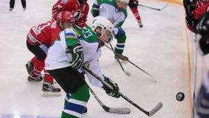 Juniormatch i ishockey, Avtomobilist Jekaterinburg-Salavat Julajev Ufa, våren 2017.