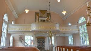 Orgelläktaren i Korsnäs kyrka