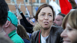 Mielenosoitus Italiassa.