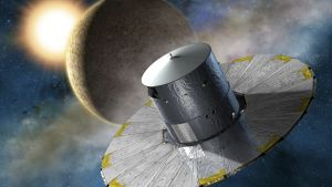 animerad bild på satellit i rymden