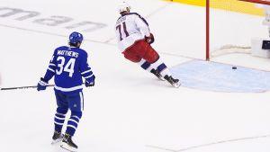 Här tar Toronto Maple Leafs säsong slut.