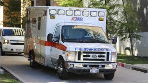 Ebolapatient på väg till sjukhus i Atlanta.