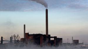 Hanaholmens kolkraftverk i sjörök