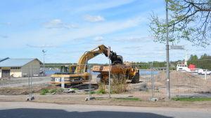 Byggprojekt i Norra hamnen i Ekenäs