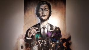 Herman Sebastian Schultz muralmålning.