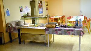 Skolmatsalen i Forsby skola i Lovisa