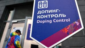 Dopningskontroll under olympiska spelen i Sotji 2014.