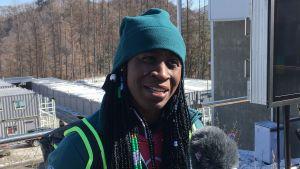 Simidele Adeagbo tävlar för Nigeria vid OS.