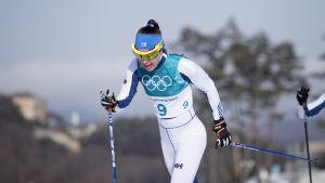 Kerttu Niskanen under OS i Pyeonchang.
