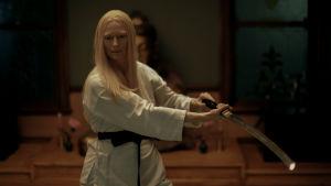 """Bild på skådespelaren Tilda Swinton som medverkar i filmen """"The Dead Don't Die""""."""