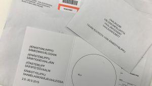 Saamelaiskäräjävaalien äänestyslippu
